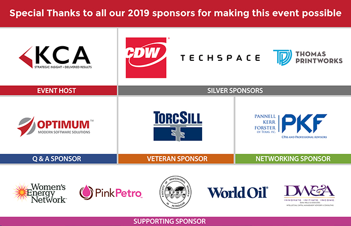 2019 Sponsors of the Houston Energy Evening Event